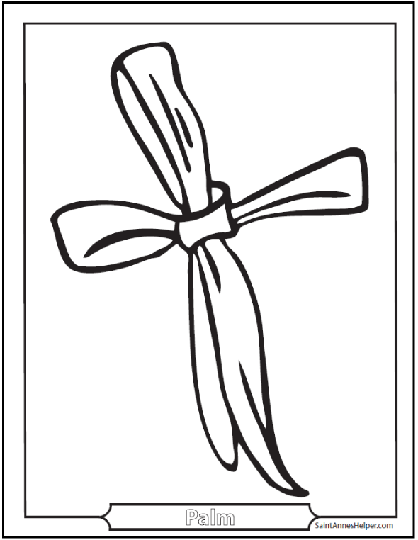 Palm Sunday Coloring Pages: Jesus On The Sunday Before Easter