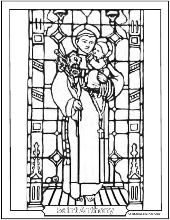 Saint Anthony Of Padua: Coloring Page: Patron Saint Of