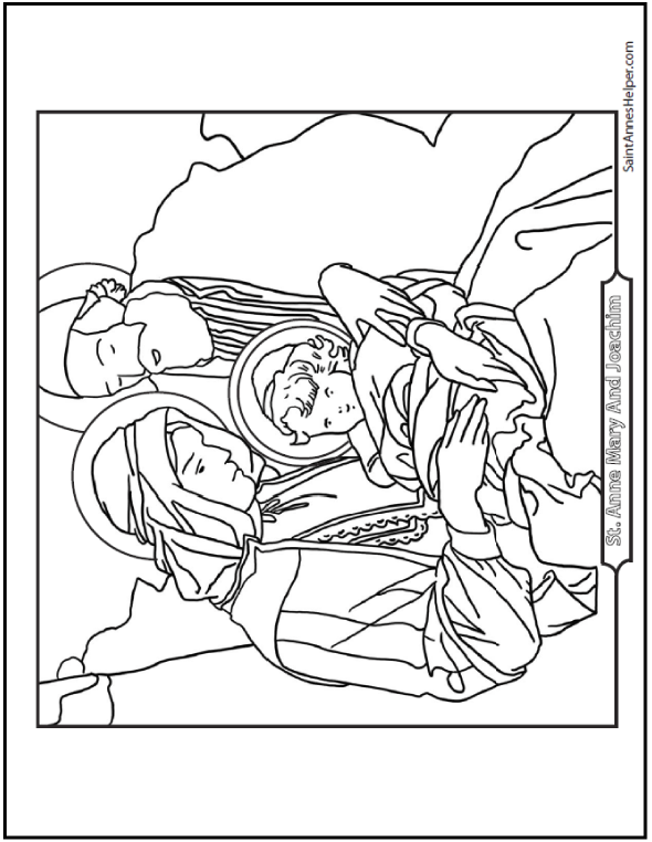Saints Joachim And Anne Coloring Page