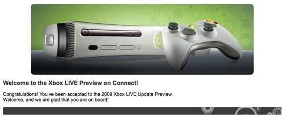 XBox Live Preview Update