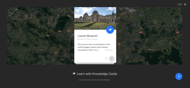 google earth info cards