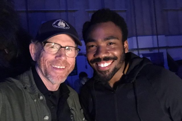 Donald Glover and Ron Howard