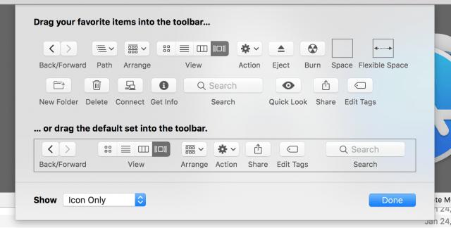 Customize the Toolbar