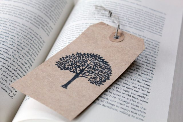homemade bookmark