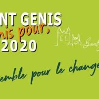 Programme de la liste SAINT GENIS 2020