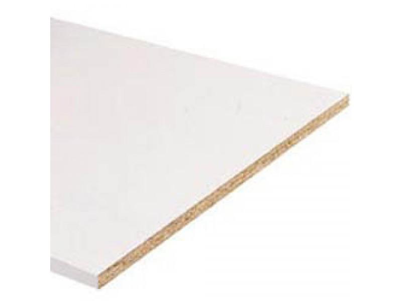 tablette en melamine blanc l2500xl300xe18mm