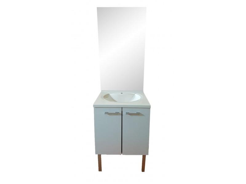 avec vasque et miroir largeur 60 cm
