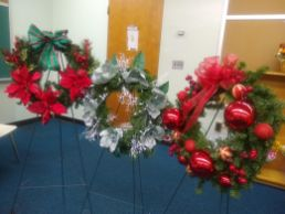 These wreaths will be sold