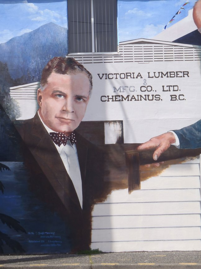 Detail from the Lumber Barons mural in downtown Chemainus, B.C., showing John Alexander Humbird (photo by St. John's Lodge No. 21 Historian)