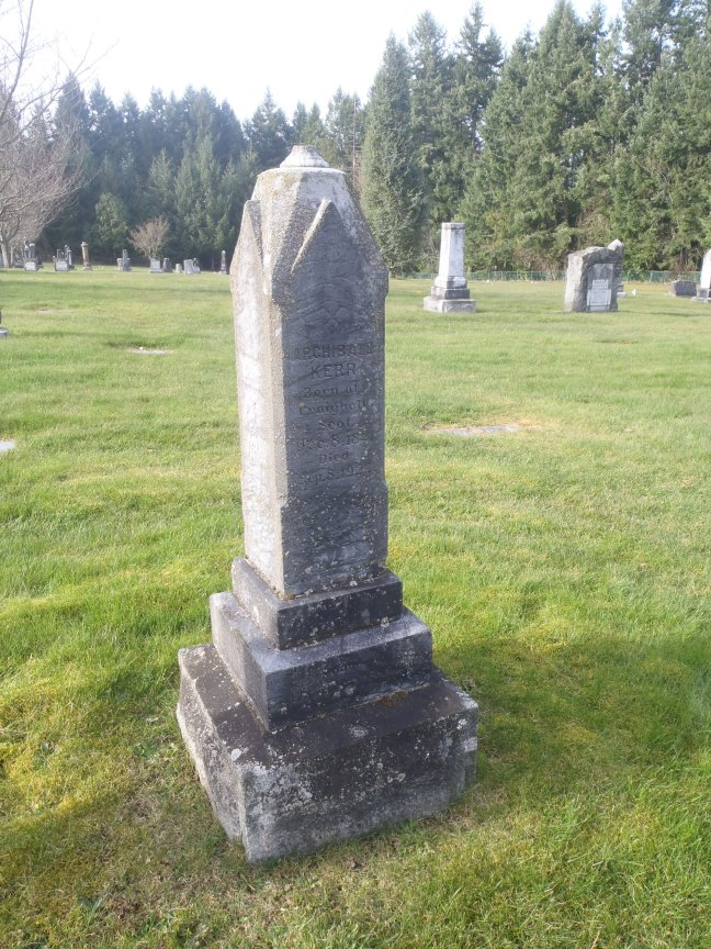 Archibald Kerr, grave, Ladysmith Cemetery (photo: St. John's Lodge No. 21 Historian)