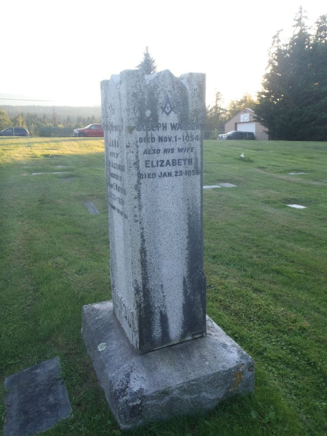 Joseph Watson, grave, Ladysmith Cemetery (photo: St. John's Lodge No. 21 Historian)