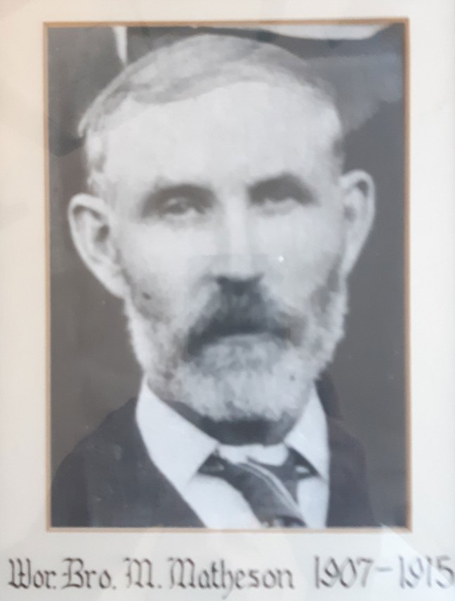 Murdock Matheson, Worshipful Master of St. John's Lodge No. 21 in 1907 and 1915 (photo: St. John's Lodge No. 21)