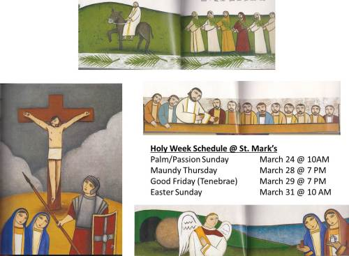 Holy Week Schedule 2013