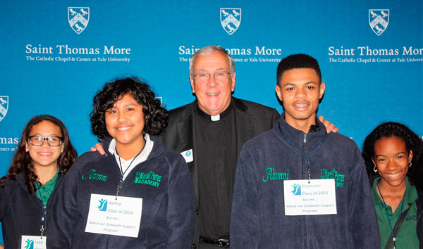 SMPA Spring Fling honored Father Bob Beloin, Chaplain at the Saint Thomas More Center and Chapel at Yale
