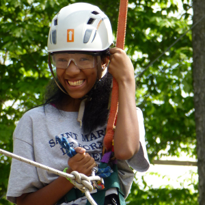 Saint Martin students at the Berkshire Outdoor Education Center