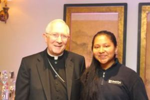 With Archbishop Blair