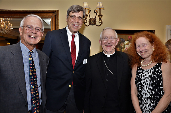 Mike Dowley, William Kosturko, Fr. Bob Beloin, and Barbara Pearce