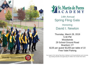 2019 Spring Fling Gala invitation