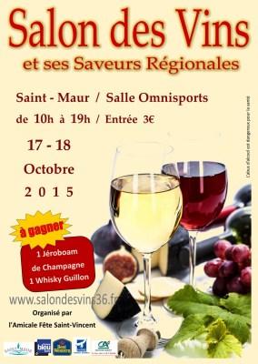 Affiche Salon des vins 2015.
