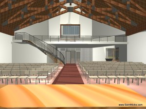 Proposed Buildings - Inside Worship Center (Rear)