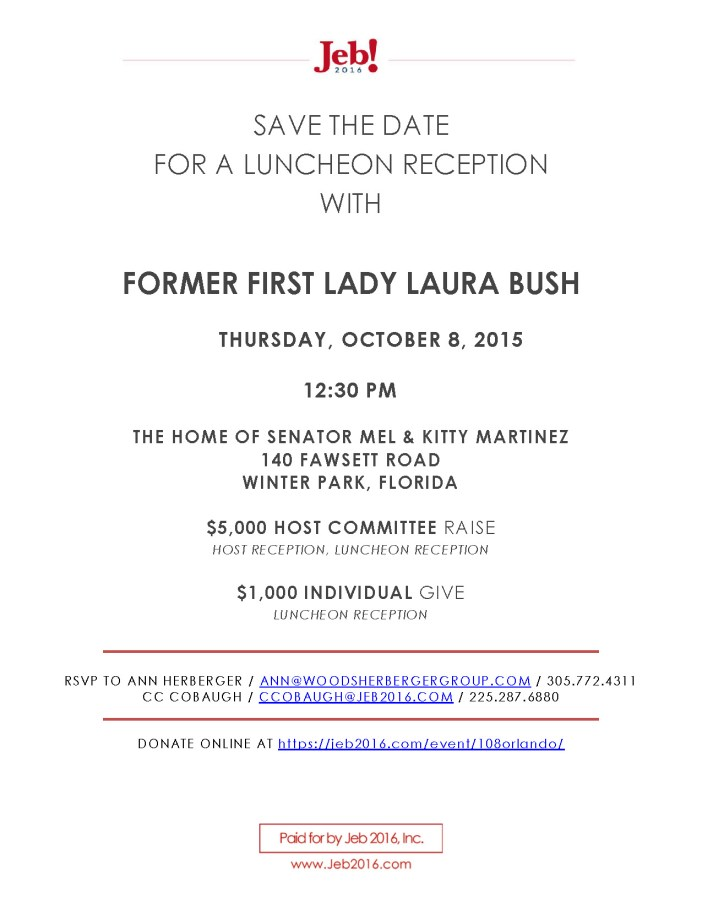 Orlando October 8 Laura Bush Save the Date_Page_1