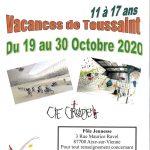 Vacances de Toussaint, animation pour les 11-17 ans