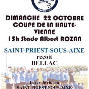Football Club – Coupe de la Haute-Vienne – Dimanche 22 Octobre 2017