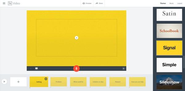 Adobe Spark comme outil de création de vidéos pédagogiques