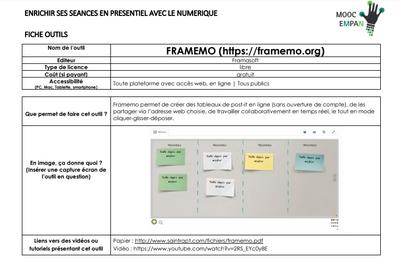 MOOC Enrichir Mutuellement sa Pratique pédagogique Avec le Numérique (EMPAN) | Semaine 2