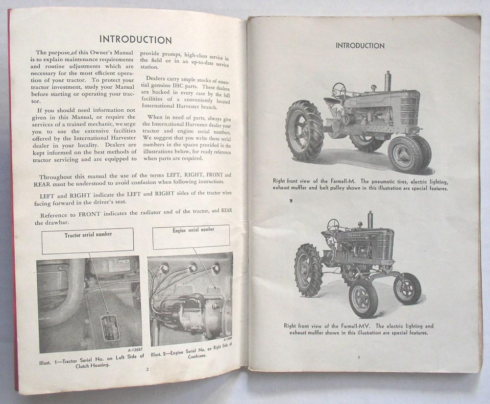medium resolution of international harvester farmall m mv tractor owner s manual publication