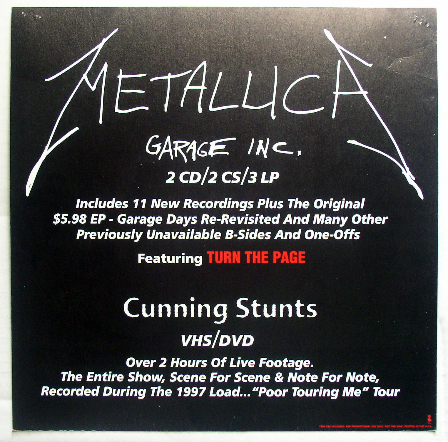 Metallica  Garage Inc  Thingery Previews Postviews