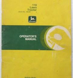 original john deere 116 lawn tractor operator s manual [ 1148 x 1484 Pixel ]