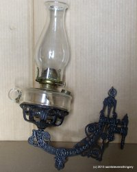Antique Cast Iron Bracket Kerosene Oil Lamp Holder, Finger ...