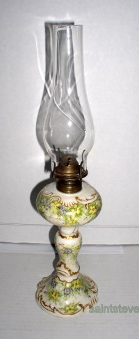 Limoges oil lamp  Thingery Previews Postviews & Thoughts