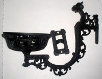 Antique Cast Iron Wall Mount Kerosene Oil Lamp Bracket