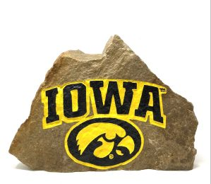University of Iowa Hawkeyes Engraved Stone