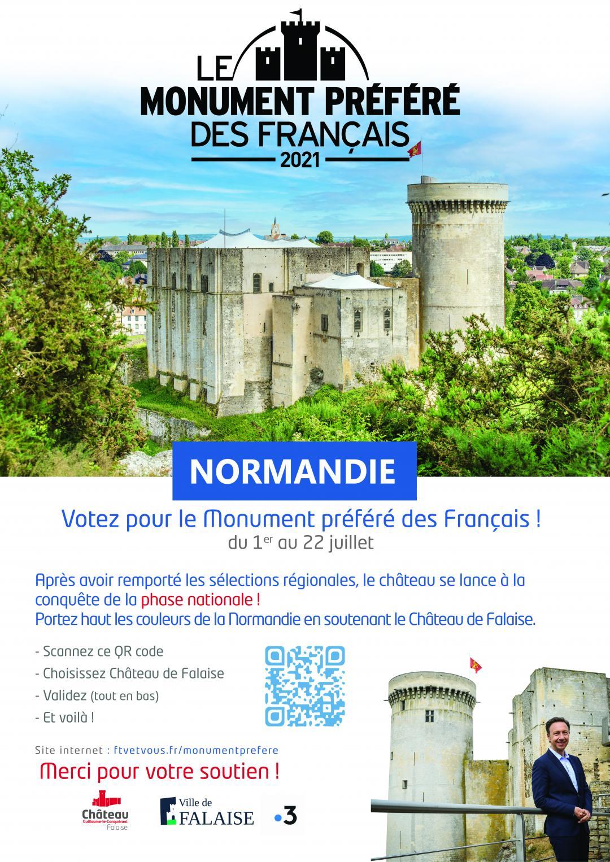 affiche soutien monument préféré des Français