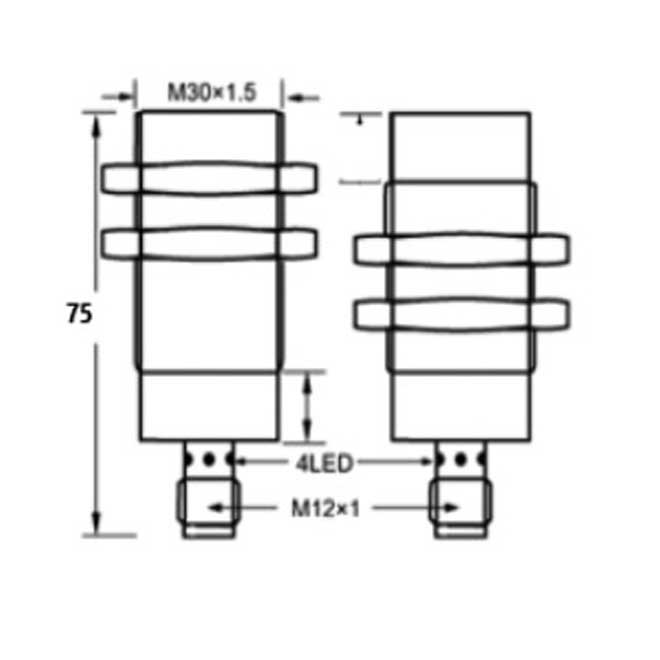 Inductive Proximity Switches,m30 65 4pin dc, Manufacturer