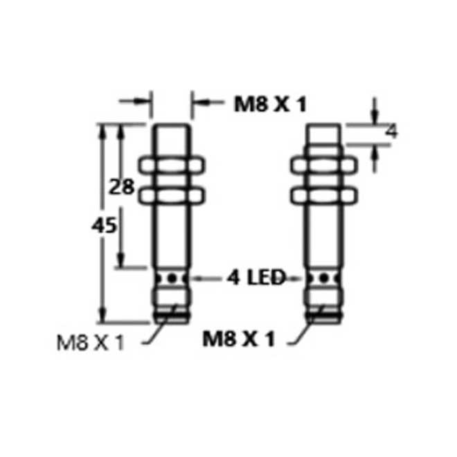 Inductive Proximity Switches M8-3 Pin-DC