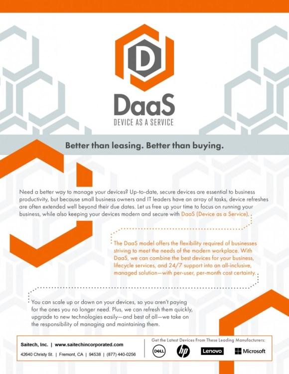 Saitech Inc. Daas Device as a Service-1
