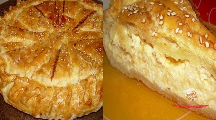 Сырный пирог на скорую руку. Все, кто пробует, остаются поклонником этого пирога навсегда!