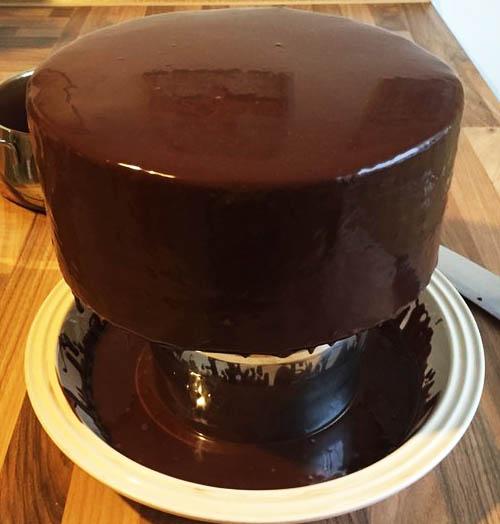 как приготовить шоколадную глазурь с желатином
