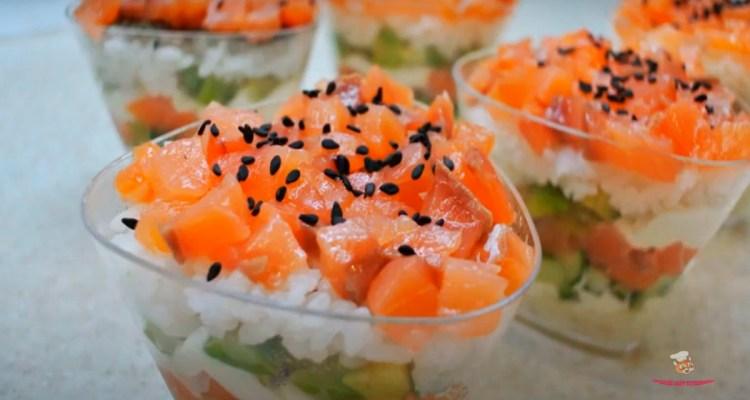 salat-sushi-v-stakaneы