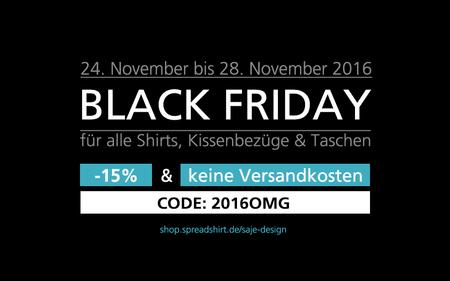 Black Friday bei Spreadshirt und Wearable Art
