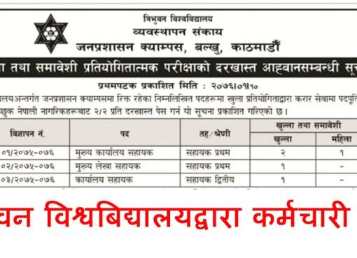Tribhuvan University, job vacancy Tribhuvan University, TU job vacancy, Tu job, tu vancancy, Tribhuvan University vacancy, त्रिभुवन विश्वबिद्यालय, कर्मचारी माग, त्रिभुवन, विश्वबिद्यालय,
