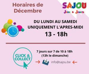 Horaire et procédure en décembre 2020 chez Sajou
