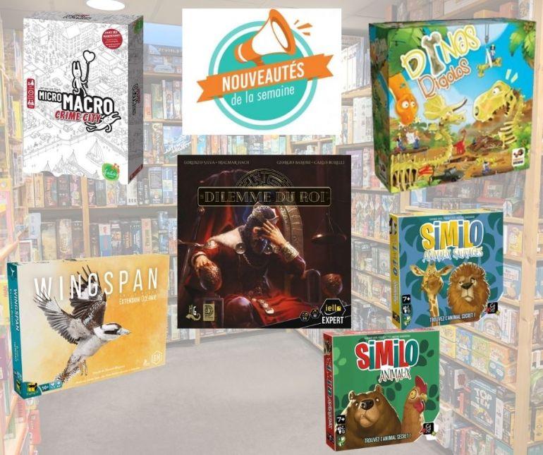 Nouveaux jeux de société arrivés chez Sajou durant la semaine du 18/12/2020