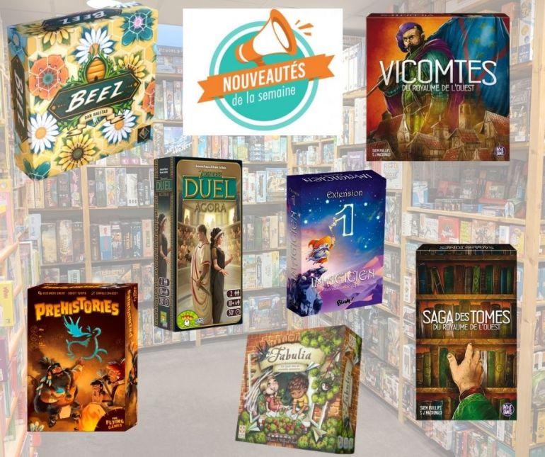 Nouveaux jeux de société arrivés chez Sajou à la date du 3 décembre 2020.