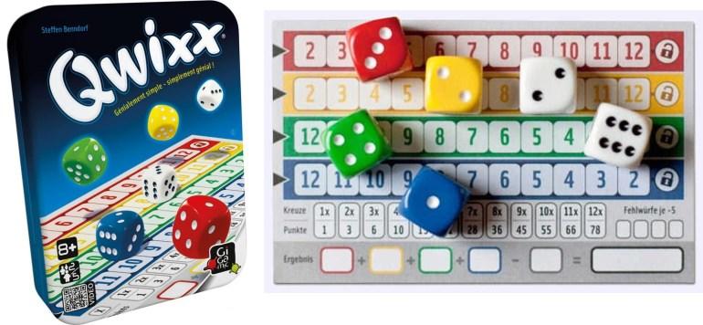 Le jeu de société Qwixx édité par Gigamic