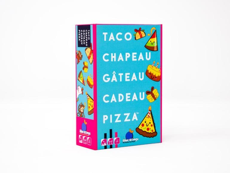 Le petit jeu de cartes Taco Chapeau Gâteau Cadeau Pizza édité par Blue Orange